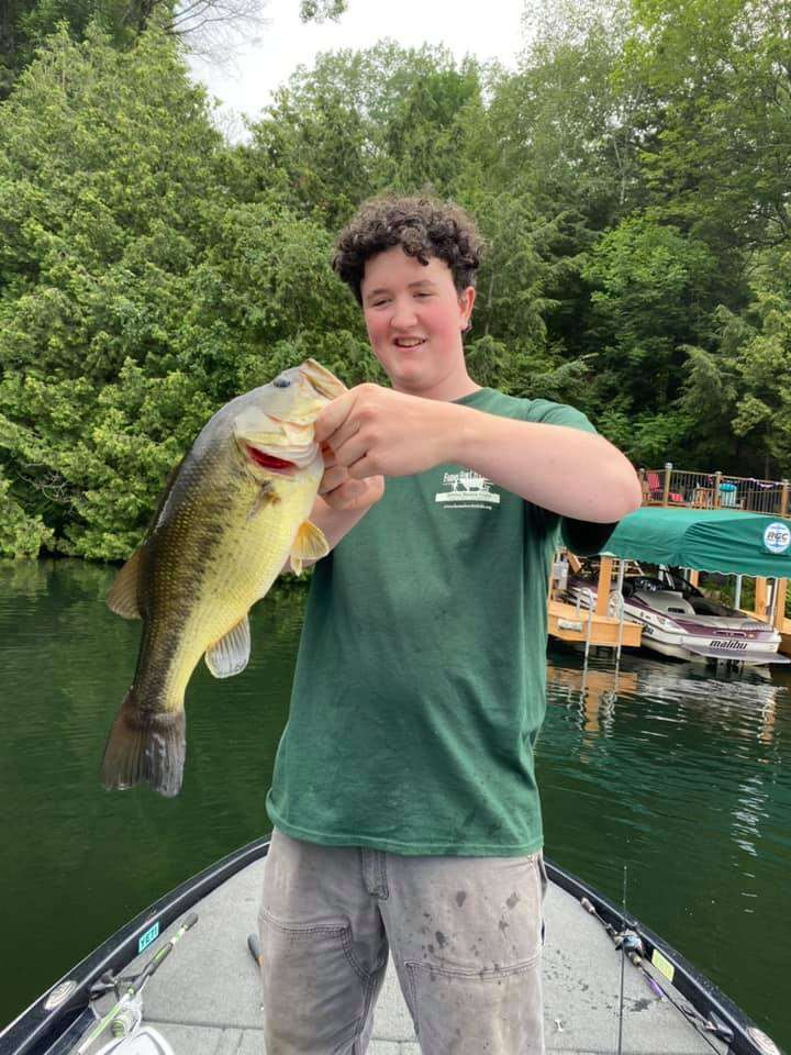 Cyrus Caught A Personal Best VT Fishing 5
