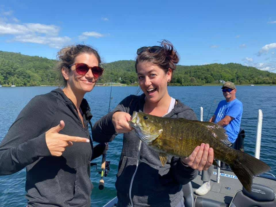 Daughters Catch Huge Bass Fish in VT 6