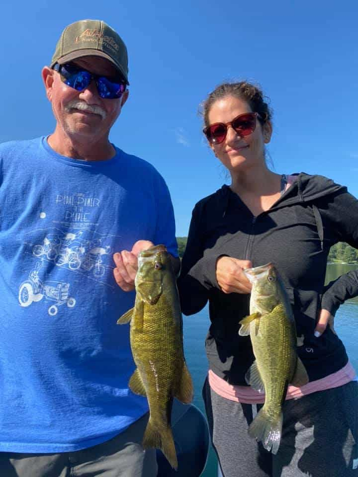 Daughters Catch Huge Bass Fish in VT 7