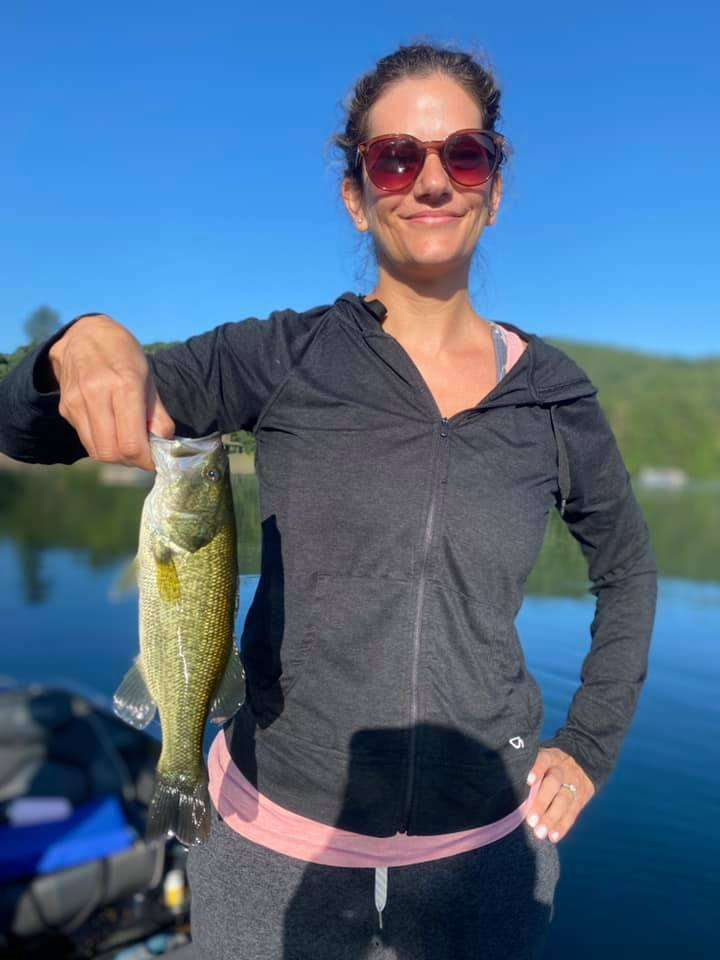 Daughters Catch Huge Bass Fish in VT 1