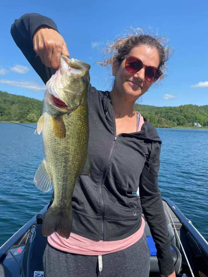 Daughters Catch Huge Bass Fish in VT 2