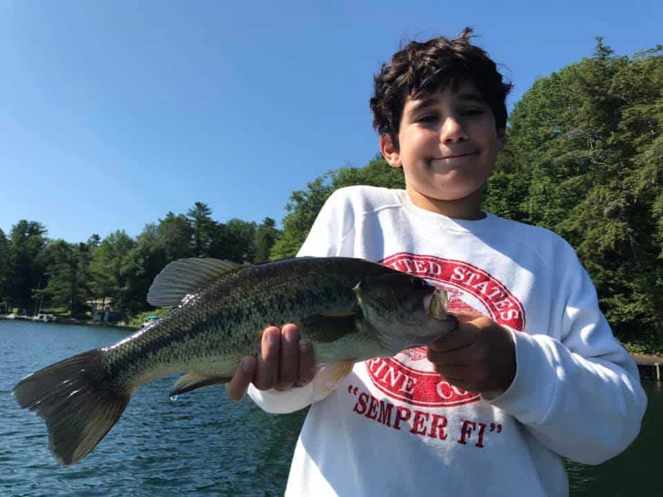 VT Fishing: Lake Morey, Monster Catch Smallmouth Bass 6